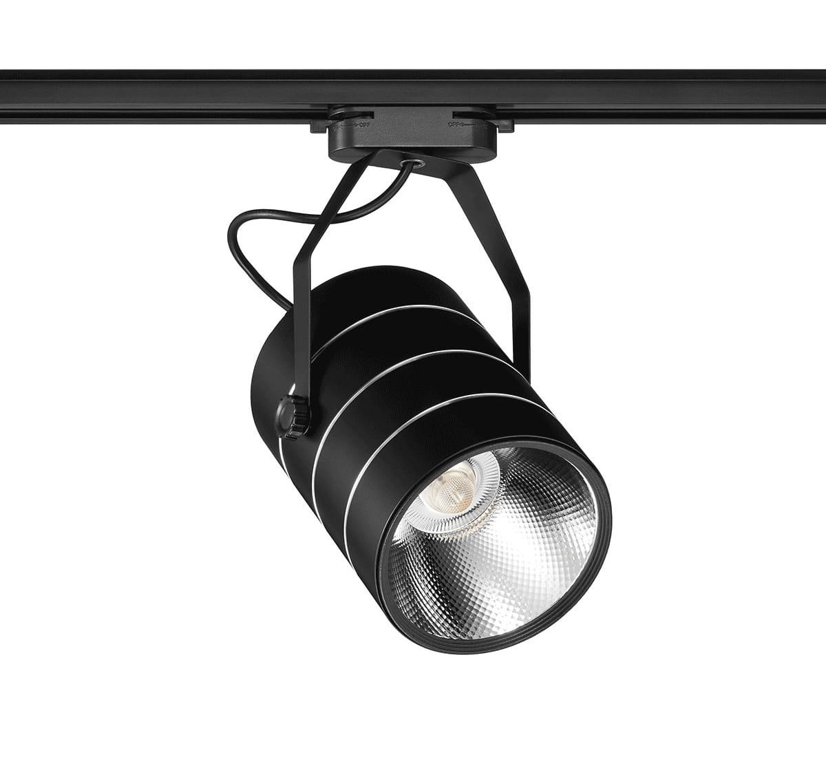 Lampa szynowa LED PREMIUM 30W 6000K ZIMNA CZARNA